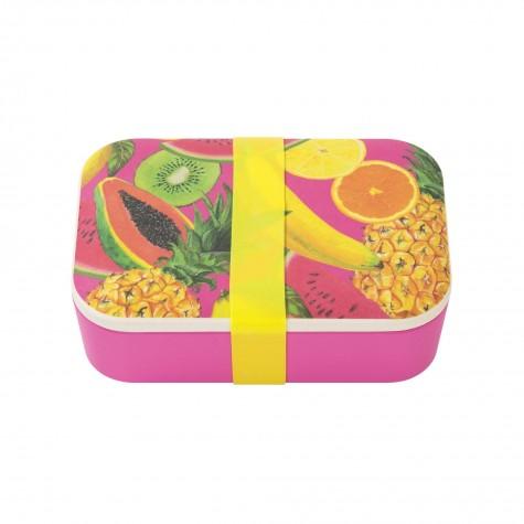 Lunchbox fucsia con fantasia frutti