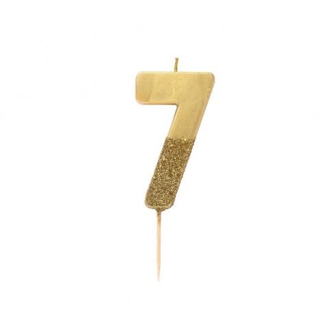 Candelina dorata glitter 7
