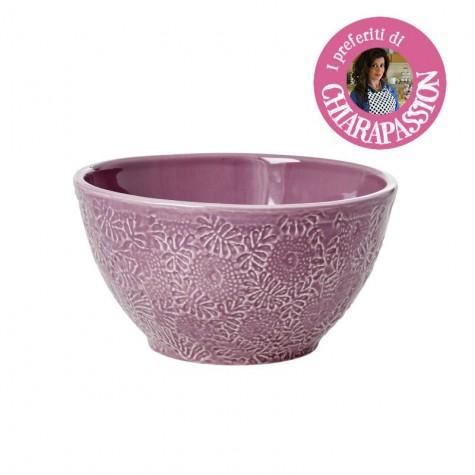 Insalatiera in ceramica color lavanda
