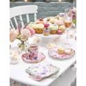 Servizio da tè fantasia floreale