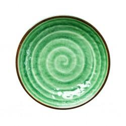 Piatto fondo verde con fantasia vortice