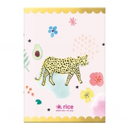 Notebook rosa A4 fantasia leopardo