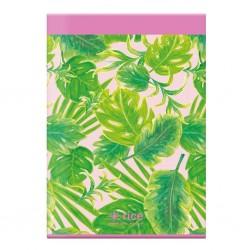 Notebook rosa A4 fantasia foglie