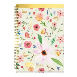 Block notes ad anelli con fantasia floreale