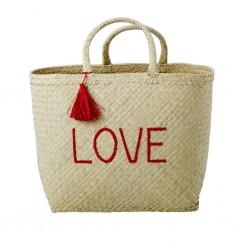 e9cbc4acde Shopping bag da mare LOVE rossa