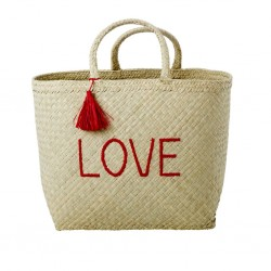 Shopping bag da mare LOVE rossa