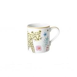 Tazza mug in porcellana con fantasia leopardo