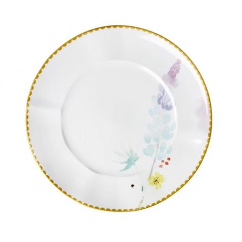 Piatto da pranzo in porcellana fantasia floreale