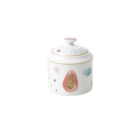 Zuccheriera in porcellana con coperchio