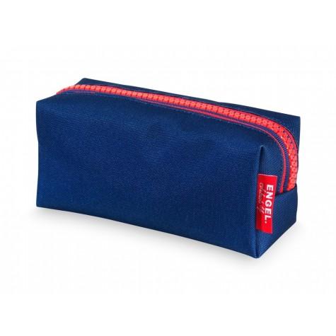 Astuccio portapenne zipper blu