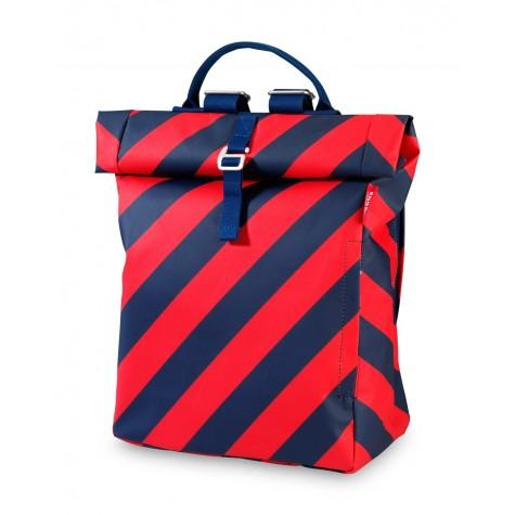 Zaino flip a strisce rosso-blu navy