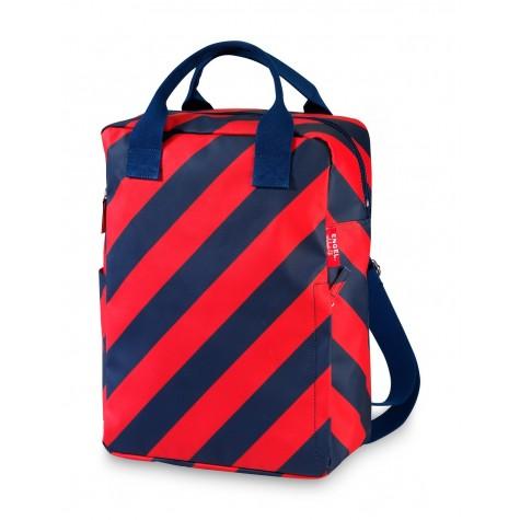 Zaino a strisce rosso-blu navy