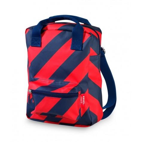 Zainetto a strisce rosso-blu navy