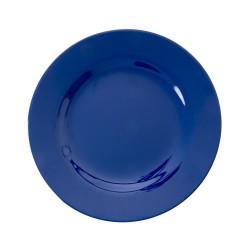 Piatto frutta tinta unita blu