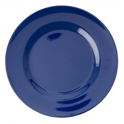 Piatto piano tinta unita blu