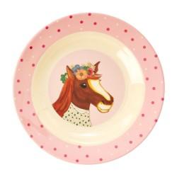 Piatto fondo bimba con cavallo disegnato
