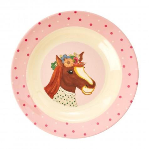 Piatto fondo bimba con cavallo