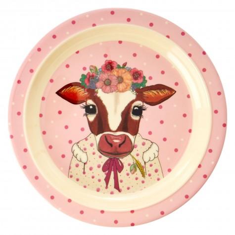 Piatto fondo bimba con mucca