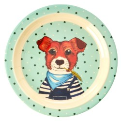 Piatto piano bimbo con cagnolino disegnato