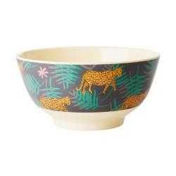 Tazza da colazione fantasia tropicale con leopardi