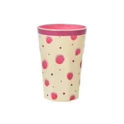 Bicchierone latte in melamina fantasia schizzi di acquerello