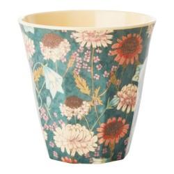 Bicchiere fantasia fiori autunnali