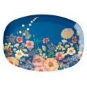 Piatto ovale fantasia collage di fiori