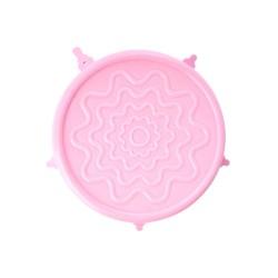 Coperchio in silicone rosa per ciotole e tazze