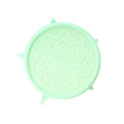 Coperchio in silicone verde per ciotole e tazze