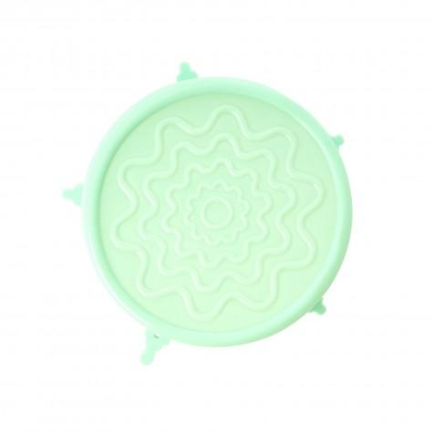 Coperchio in silicone verde pastello per ciotole di melamina - Medio