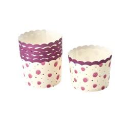 Pirottini per cupcake con fantasia acquerello rosa