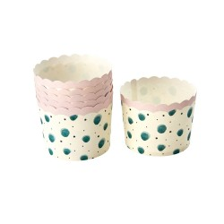 Pirottini per cupcake con fantasia acquerello verde