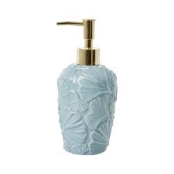 Dispenser sapone azzurro con dettagli in rilievo