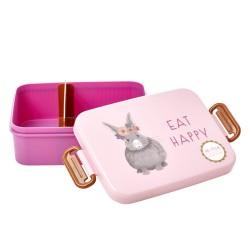 Contenitore porta pranzo rosa con divisore