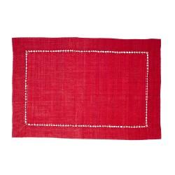 Tovaglietta americana in rafia rossa