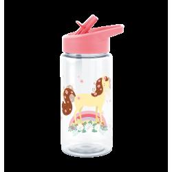 Borraccia bimbo da decorare con tappo rosa