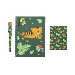 Set da scrivania fantasia tigrotto nella giungla