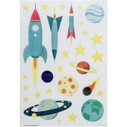 Stickers adesivi da muro fantasia spaziale