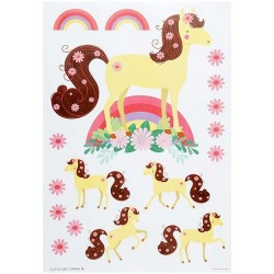 Stickers adesivi da muro fantasia pony