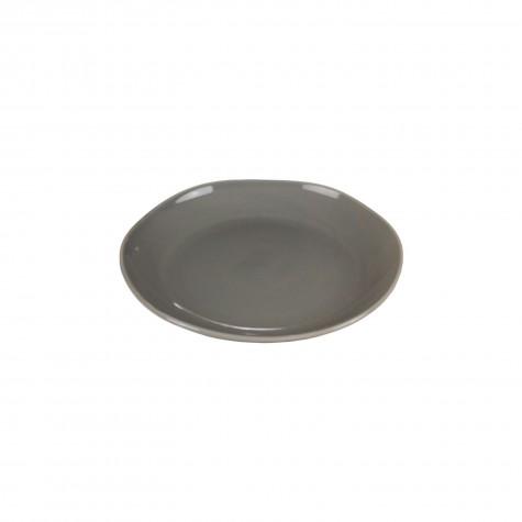 Piatto frutta in ceramica grigio