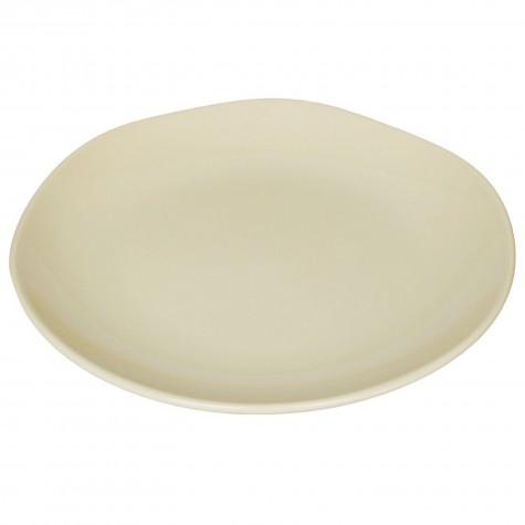 Piatto da portata in ceramica color crema