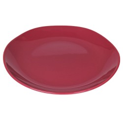 Piatto da portata in ceramica rosso ciliegia