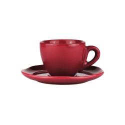 Set da caffè in ceramica rosso ciliegia