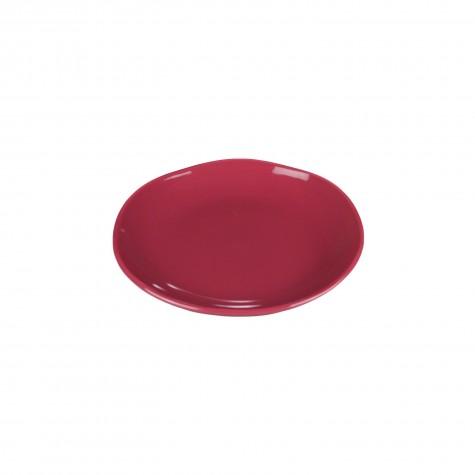Piatto frutta in ceramica rosso ciliegia