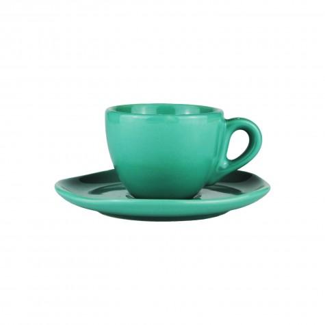 Set da caffè in ceramica acquamarina