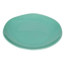 Piatto piano in ceramica acquamarina