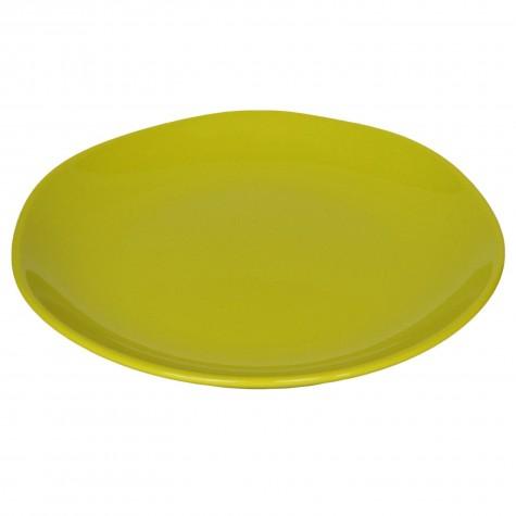 Piatto da portata in ceramica verde acido