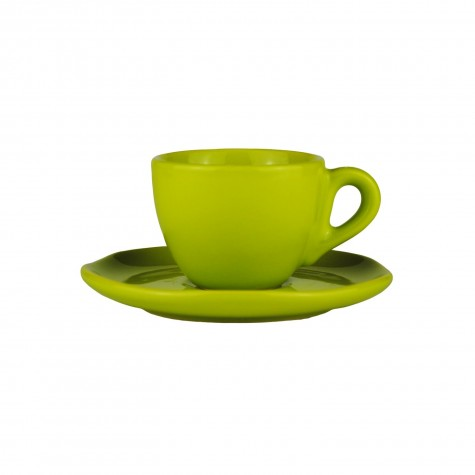 Set da caffè in ceramica verde acido