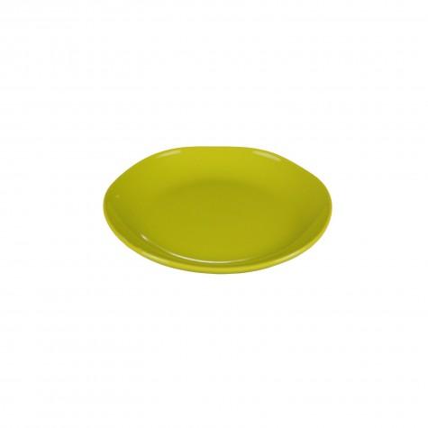 Piatto frutta in ceramica verde acido