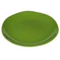 Piatto da portata in ceramica verde muschio